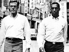 robert culp and bill cosby/••••first TV series that had a black lead and it was a great show. They were tennis pros who also did spy work for the CIA. This was during the Bond era & the Cold War. Spies/threat of spies was an ongoing issue.  Didn't require much of a stretch to believe the possibility of this plot. They got equal billing and did interviews together, had the same trailers, etc., to keep everything nice & equal. Cosby was FUNNY and Culp was a great straight man.