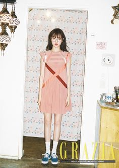 Model Lee Sung Kyung is coy and sexy at the same time for 'Grazia'! For the pictorial, Lee Sung Kyung wore bohemian inspired looks: a pattern… Lee Sung Kyung Photoshoot, Lee Sung Kyung Fashion, Frock Fashion, Fashion Outfits, Korea Dress, Korean Fashion Trends, Ulzzang Fashion, Korean Actresses, Korean Outfits