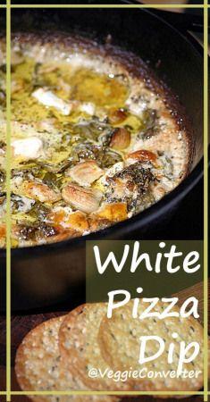 White Pizza Dip | @VeggieConverter