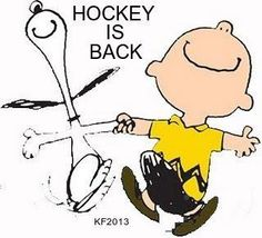 Snoopy and Charlie Brown are happy because Hockey is back for the 2016 -17 season.....