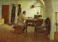 León Tolstoi en su estudio. 1891 - Ilya Repin