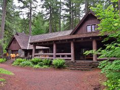 Silver Falls State Park in Oregon; I just think this architecture is absolutely beautiful. It's amazing because it's not really trying to be. It was designed and built by the Civilian Conservation Corps in 1940/41 as a utilitarian facility.