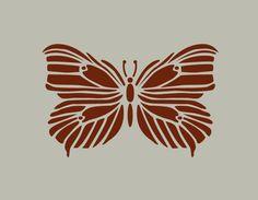Papillon. Pochoir en vinyle adhésif. (ref 162) : Décoration d'intérieur par larabesque