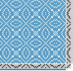 Weave-Away: My own profile drafts Use this pattern for a runner over my bookshelf/coffee bar, dark green and tan? Cream?