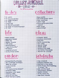 ●•Bullet Journal Ideas•●