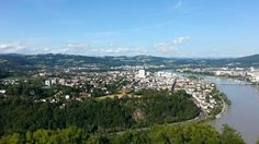 View to Urfahr from Franz Josef Warte River, Outdoor, Linz, City, Outdoors, Outdoor Games, The Great Outdoors, Rivers