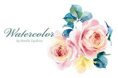Watercolor English roses by Natalia Tyulkina on Creative Market
