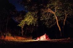 Camping by Lake Tanganyika