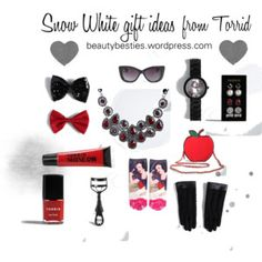 Get your Torrid princess some gifts as beautiful as she is.  From accessories to make-up (and clothes too if you want!) there is some really lovely items to choose from.  This collage is inspired b...