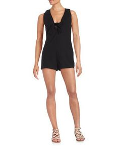 Free People Daisy Cotton-Stretch Romper Women's Black 4