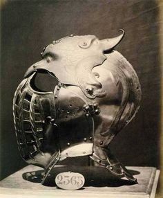 Helmet of Emperor Charles V (1500-58) - 1862 photo by Charles Clifford. S)