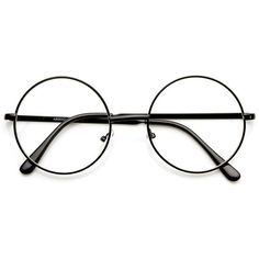 Lennon Mid Size Full Metal Frame Clear Lens Round Glasses ❤ liked on Polyvore featuring accessories, eyewear, eyeglasses, metal eyeglasses, circle glasses, circle lens glasses, round eyeglasses and round eye glasses