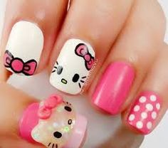 Hello Kitty Nail Designs Ideas pin artist on cats hello kitty nails cat nails nails Hello Kitty Nail Designs. Here is Hello Kitty Nail Designs Ideas for you. Hello Kitty Nail Designs hello kitty nail art discovered sandra on we heart . Light Pink Nail Designs, Light Pink Nails, Simple Nail Designs, Nail Art Designs, Pretty Designs, Tattoo Designs, Hello Kitty Nails, Winter Nail Art, Short Nails