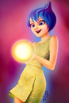 Joy Inside out WIP by sadiek on DeviantArt Joy Inside Out, Tadashi, Disney Art, Pixar, Disney Characters, Fictional Characters, Deviantart, Disney Princess, Pixar Characters