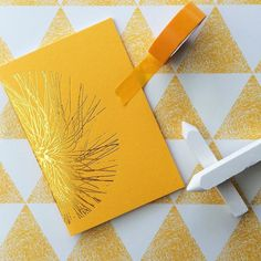 M I M O S A. Here's to a beautiful weekend  #lonetreehq #madeinengland #stationery #papergoods #stationeryaddict #greetingcards #print #pattern #goldfoil #wrappingpapers #TopDrawerAW16