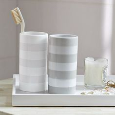 Stripe Tumblers from west elm