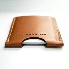 Vegetable Tanned Leather Card Holder Wallet by CarveOn on Etsy, €20.00