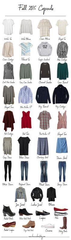 My (current) favorite capsule wardrobe blog. By far. Fall Capsule 2015