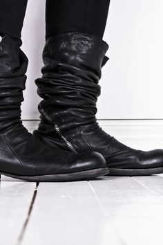 OBSCUR PRICE DROP   Size 43 High lamb leather zip boots - StyleZeitgeist