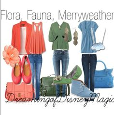 Outfits Inspired by Flora, Fauna and Merryweather