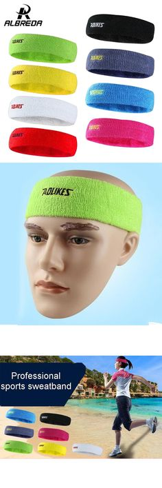 [Visit to Buy] ALBREDA High Quality cotton sweat headband for men Sweatband women Yoga Hair Bands  Head Sweat Bands Sports Safety #Advertisement