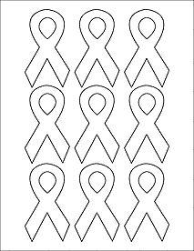 Breast Cancer Support Survivor Awareness Ribbons Autism Blank Labels Label Templates Pastel Pink