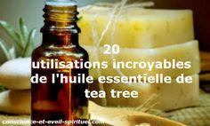 L'huile essentielle de tea tree est la vapeur de l'huile essentielle de la plante australienne distillée Melaleuca alternifolia.