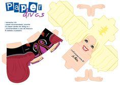 paperdivas – Rabisco Pop - Página 17 3d Paper Crafts, Paper Toys, Paper Art, Paper Divas, Paper Folding, Game Character, Card Making, Cube, Printables
