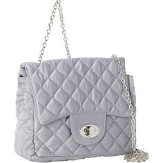 Magid Quilted Satin Shoulder Bag ($46) ❤ liked on Polyvore featuring bags, handbags, shoulder bags, evening bags, metalic, quilted hand bags, satin evening bag, man shoulder bag, quilted purse and evening handbags