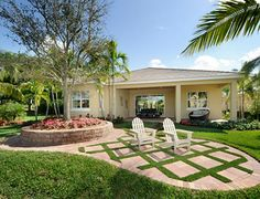 House exterior back yard at Minto Olympia in Wellington Florida