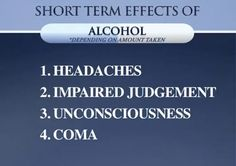 the effects of alcohol | Short Term Effects Of Alcohol