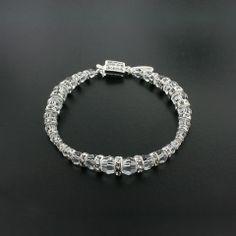 Graduated Swarovski Crystal Bracelet with Rondelles | Giavan, Inc.