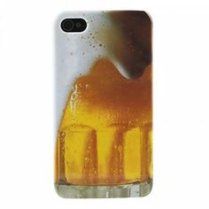 EachBuyer_High Quality Beer Bubble Pattern Hard Case for iPhone 4 or 4S
