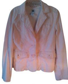 Gap Corduroy Stretchy Pink Size 6 Womens Jean Jacket $20
