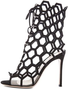 Gianvito Rossi Lace Up Booties in Nero & Nude on shopstyle.com