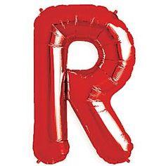 Foil Balloons - Red Letter R Balloon - 34'' Foil