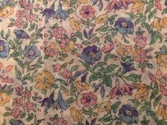 """1m VTG LIBERTY Voile Pretty Classic Floral """"Mamie"""" Silk & Cotton Fabric Material 