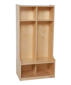 Look at this Natural Baltic Birch Contender™ Two-Section Seat Locker on #zulily today!