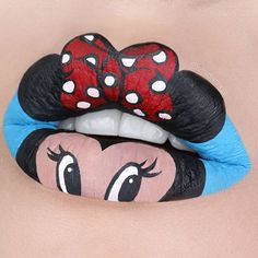 Never stop being a kid ❤️Minnie Mouse lip art for all my Disney fans out there…