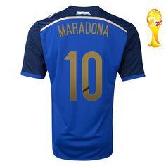 Acheter Maillot de foot Argentine Coupe Du Monde 2014 MARDONA Extérieur