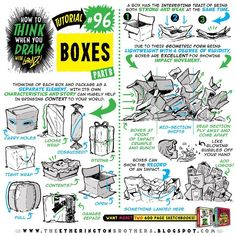 "How to THINK when you draw BOXES part TWO! How to THINK when you draw BOOK coming to Kickstarter in March 2018, join the launch day mailing list by writing to misterlorenzoboy@yahoo.co.uk and saying ""Add me, Lorenzo!"" There are 95 more tutorials back in the gallery HERE: @etheringtonbrothers Lorenzo! #howtodraw #howtoTHINKwhenyoudraw #howtoTHINKwhenyoudrawwithLORENZO #tutorial #drawing #drawingtutorial #conceptart #games #gamedev #animation #animationdev #comicart #anime #manga…"