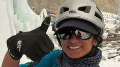 Raha Muharrk the first Saudi Women and the youngest Arab who has climbed Everest Mountain.