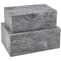 """EATON MARBLE BOX SET, 11""""L (150 CAD) ❤ liked on Polyvore featuring home, home decor, small item storage, marble box and marble home decor"""
