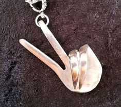 Peace sign Upcycled fork necklace Spoon jewelry by KPughDesigns