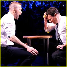 Ryan Reynolds & Jimmy Fallon Crack Eggs On Their Heads for 'Egg Roulette' - Watch Now!