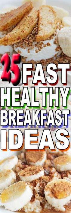 Need more easy healthy breakfast ideas? Check out 25 fast breakfast ideas we tried--and loved. Healthy Breakfast For Weight Loss, Healthy Breakfast Recipes, Best Breakfast, Healthy Weight Loss, Healthy Tips, Breakfast Ideas, Healthy Recipes, Brunch, Weight Loss Meal Plan