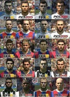 FIFA 15 vs PES 15 : Les visages des stars du foot - http://www.actusports.fr/119455/fifa-15-vs-pes-15-les-visages-stars-du-foot/