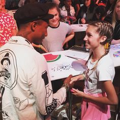 """Pharrell Williams on Instagram: """"Working with young artists tonight to create their own #OriginalSuperstar designs"""""""