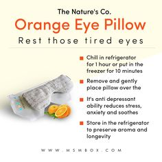 The Nature's Co. Orange Eye Pillow Rest those tired eyes