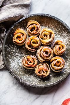 Mini Pecan Butter Apple Rose Tarts - Eight ingredients, simple, easy, and so cute! Mini food at its best! From http://halfbakedharvest.com